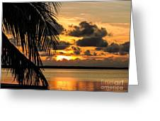 Lopez Point Sunset Greeting Card