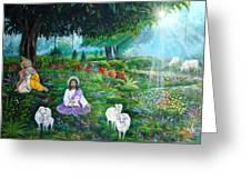 Lord Jesus And Lord Krishna Greeting Card