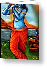 Lord Krishna- Hindu Deity Greeting Card