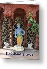 Lord Krishna Greeting Card by Vijay Sharon Govender
