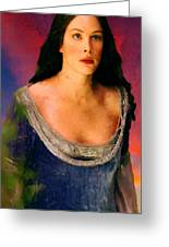 Lord Of The Rings Arwen Greeting Card