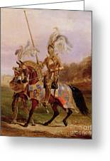 Lord Of The Tournament Greeting Card by Edward Henry Corbould