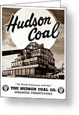 Loree Colliery Larksville Pa. Hudson Coal Co  Greeting Card