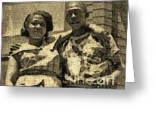 Lorenzo  Madgie And Angela Greeting Card