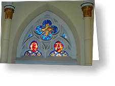 Loretto Chapel Stained Glass Greeting Card