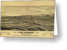 Los Angeles 1877 Greeting Card