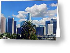 Los Angeles And Palm Trees Greeting Card