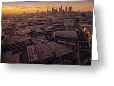 Los Angeles At Sunset Greeting Card
