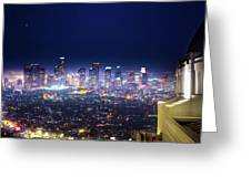 Los Angeles By Night Greeting Card