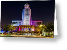 Los Angeles City Hall Greeting Card
