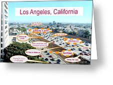Los Angeles Highway To Heaven Greeting Card