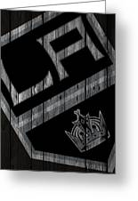 Los Angeles Kings Wood Fence Greeting Card