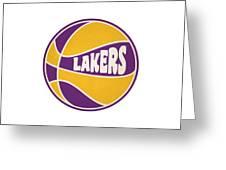 Los Angeles Lakers Retro Shirt Greeting Card