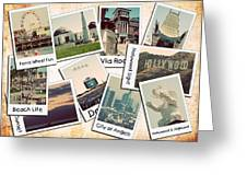 Los Angeles Polaroid Collage Greeting Card