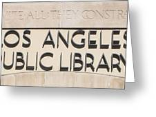 Los Angeles Public Library 0588 Greeting Card