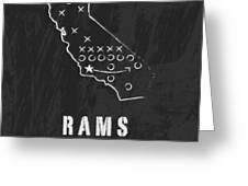 Los Angeles Rams Art - Nfl Football Wall Print Greeting Card by Damon Gray