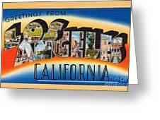 Los Angeles Vintage Travel Postcard Restored Greeting Card