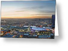 Los Angeles West View Greeting Card