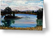 Los Gatos Lake Greeting Card