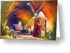 Los Molinos Del Quijote 01 Greeting Card