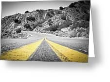 Los Padres Country Highway Greeting Card