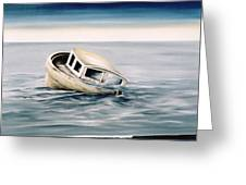 Lost At Sea Contd Greeting Card