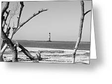 Lost At Sea...morris Island Lighthouse Greeting Card