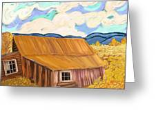Lost Cabin In The Mountains Greeting Card by Sydne Archambault