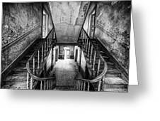 Lost Glory Staircase - Abandoned Castle Greeting Card