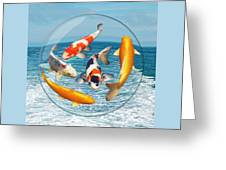 Lost In A Daydream - Fish Out Of Water Greeting Card