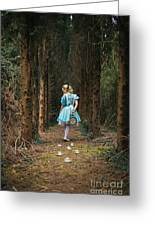 Lost In The Forest Greeting Card