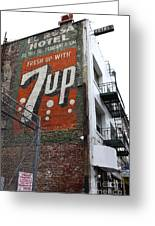 Lost In Urban America - El Rosa Hotel - Tenderloin District - San Francisco California - 5d19351 Greeting Card by Wingsdomain Art and Photography