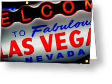 Lost In Vegas Greeting Card