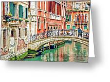 Lost In Venice Greeting Card