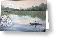 Lost Lagoon With Blue Heron Greeting Card