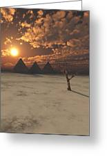Lost Pyramids Greeting Card