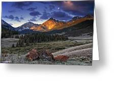 Lost River Mountains Moon Greeting Card