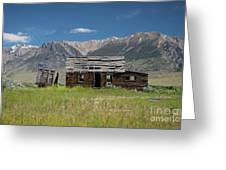 Lost River Range Cabin Greeting Card