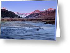 Lost River Range Greeting Card