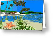 Lost Starfish On A Beach Greeting Card