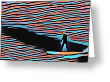Lost Surfer Greeting Card