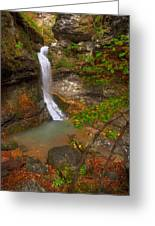 Lost Valley Falls Greeting Card by Ryan Heffron