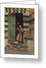 Lot 2 Raphael Von Ambros Austrian, 1855-1895 The Lamp Tender Greeting Card