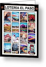 Loteria El Paso Greeting Card