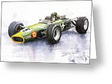 Lotus 49 Ford F1 Jim Clark Greeting Card by Yuriy  Shevchuk