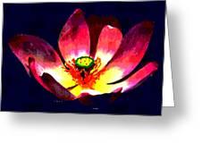 Lotus Blue Greeting Card