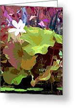 Lotus Design Greeting Card