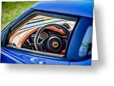 Lotus Evora S Steering Wheel -1858c Greeting Card