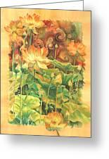 Lotus Field Greeting Card