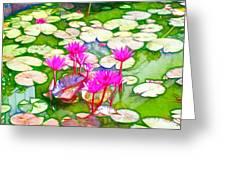 Lotus Flower 3 Greeting Card